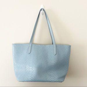 GiGi New York Teddie Tote Purse Python Leather